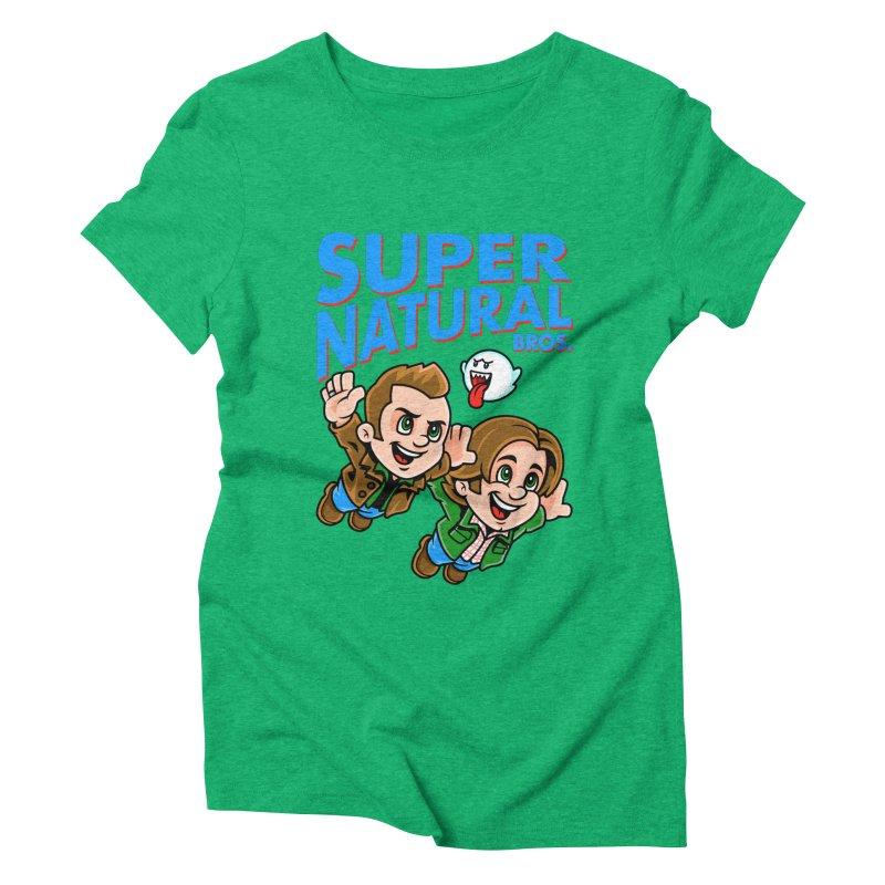 Super Natural Bros Women's Triblend T-shirt by harebrained's Artist Shop