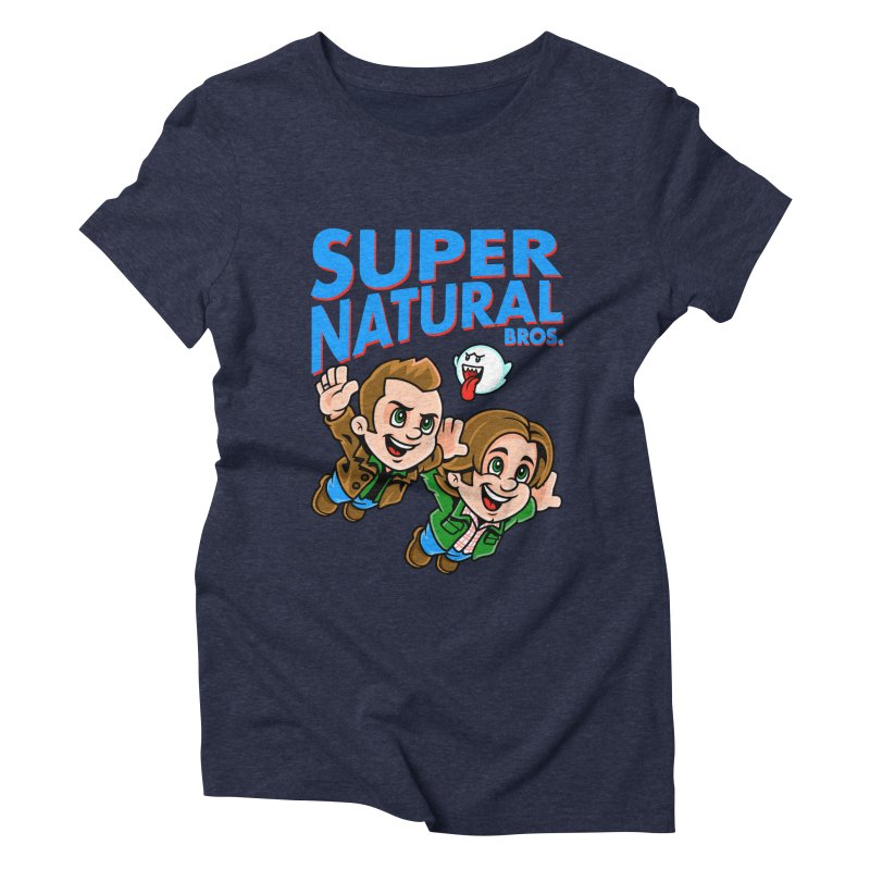 Super Natural Bros Women's Triblend T-Shirt by harebrained's Artist Shop