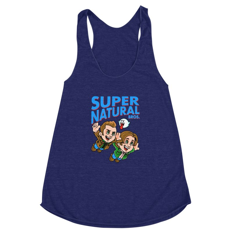 Super Natural Bros Women's Racerback Triblend Tank by harebrained's Artist Shop