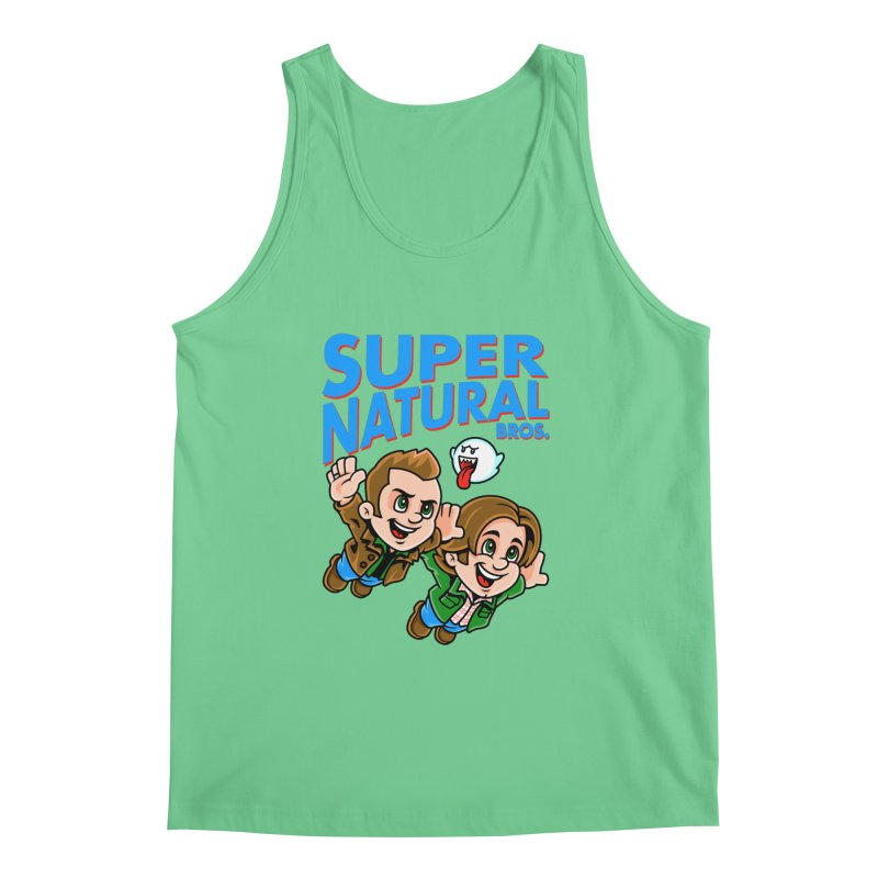 Super Natural Bros Men's Regular Tank by harebrained's Artist Shop