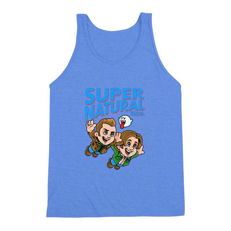 Super Natural Bros Men's Triblend Tank by harebrained's Artist Shop