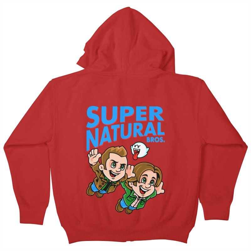 Super Natural Bros Kids Zip-Up Hoody by harebrained's Artist Shop