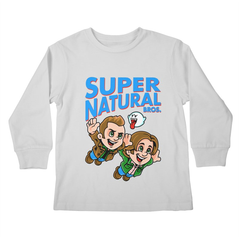 Super Natural Bros Kids Longsleeve T-Shirt by harebrained's Artist Shop