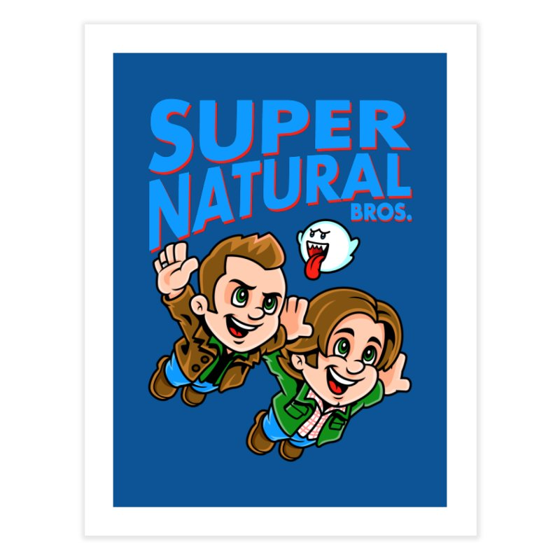 Super Natural Bros Home Fine Art Print by harebrained's Artist Shop