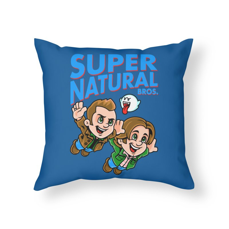 Super Natural Bros Home Throw Pillow by harebrained's Artist Shop