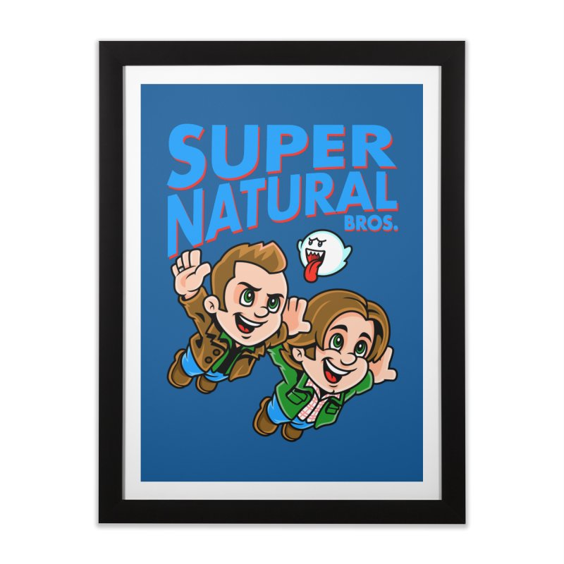 Super Natural Bros Home Framed Fine Art Print by harebrained's Artist Shop