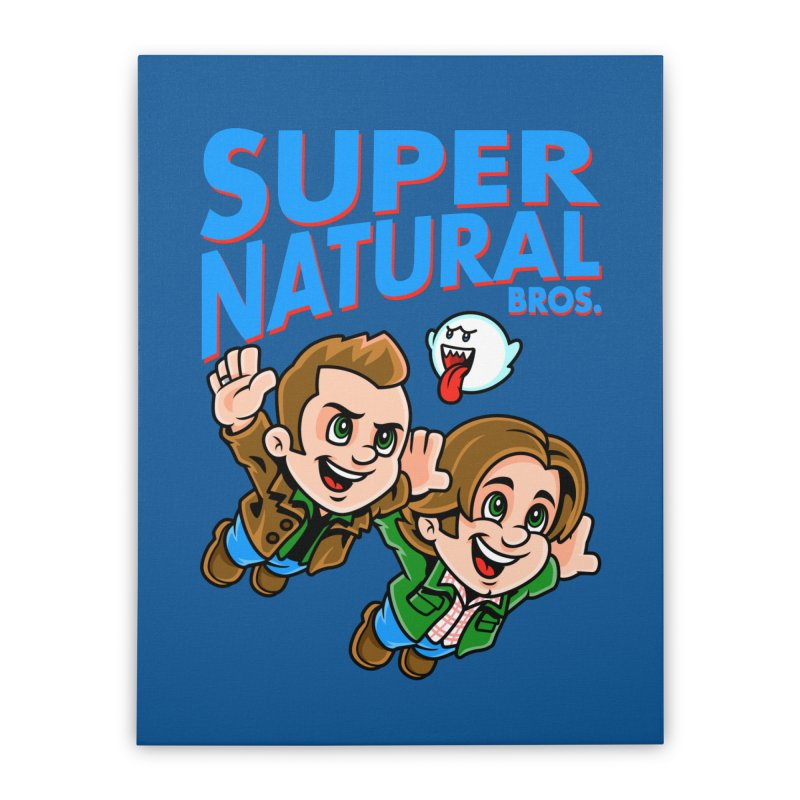 Super Natural Bros Home Stretched Canvas by harebrained's Artist Shop