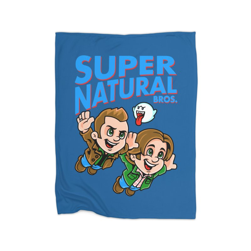 Super Natural Bros Home Fleece Blanket Blanket by harebrained's Artist Shop