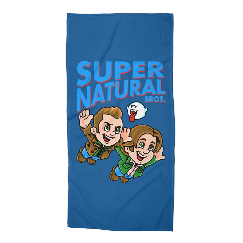 Super Natural Bros Accessories Beach Towel by harebrained's Artist Shop