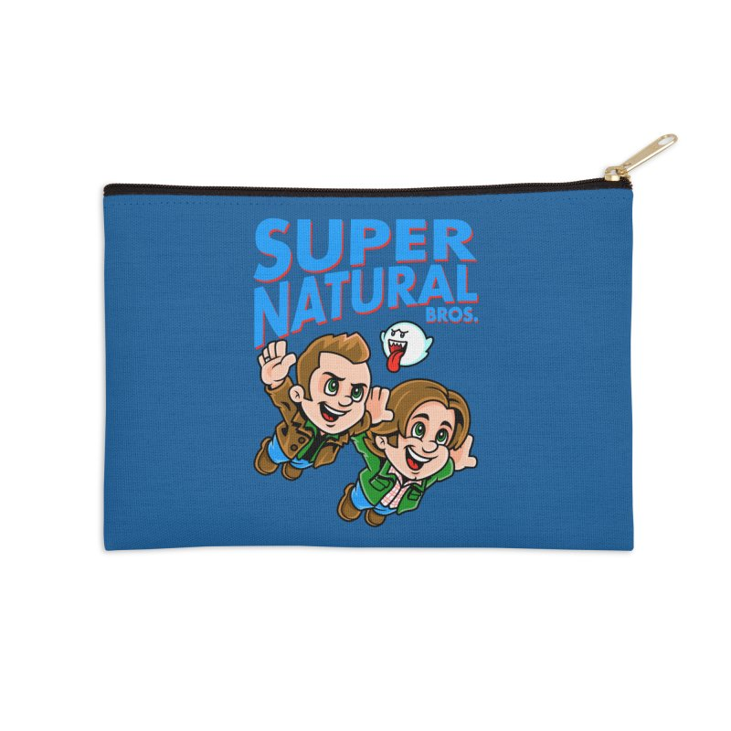 Super Natural Bros Accessories Zip Pouch by harebrained's Artist Shop