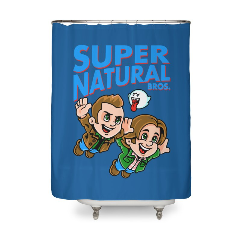 Super Natural Bros Home Shower Curtain by harebrained's Artist Shop