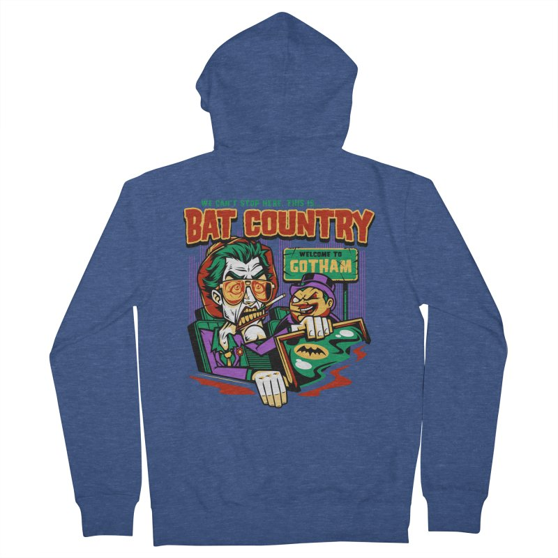 Bat Country (Penguin) Women's Zip-Up Hoody by harebrained's Artist Shop