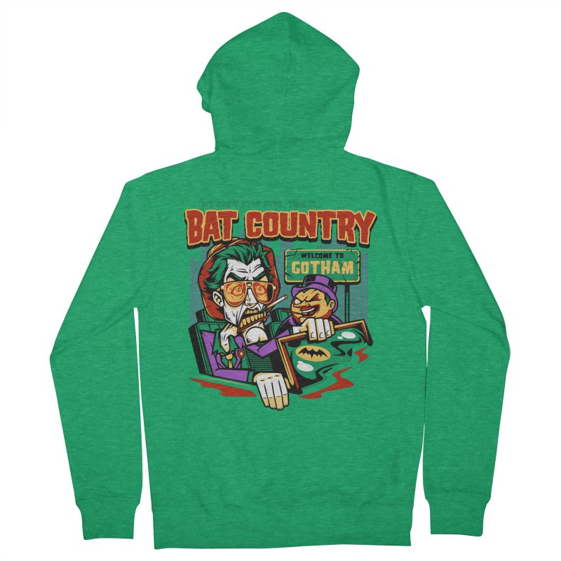 Bat Country (Penguin) Men's French Terry Zip-Up Hoody by harebrained's Artist Shop