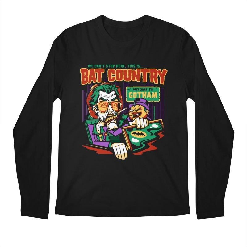 Bat Country (Penguin) Men's Longsleeve T-Shirt by harebrained's Artist Shop