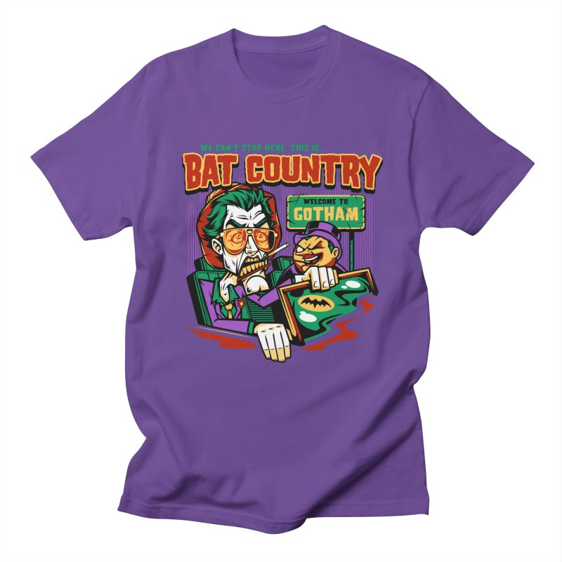 Bat Country (Penguin) Men's T-shirt by harebrained's Artist Shop