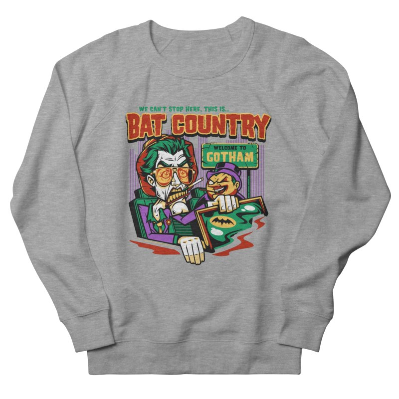 Bat Country (Penguin) Men's French Terry Sweatshirt by harebrained's Artist Shop