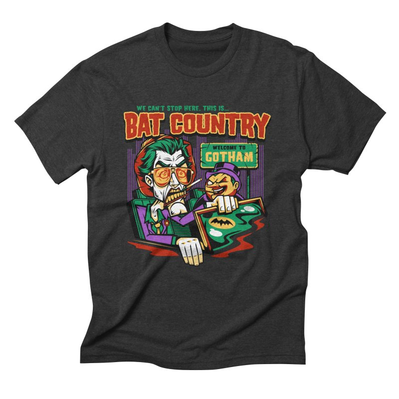 Bat Country (Penguin) Men's Triblend T-Shirt by harebrained's Artist Shop