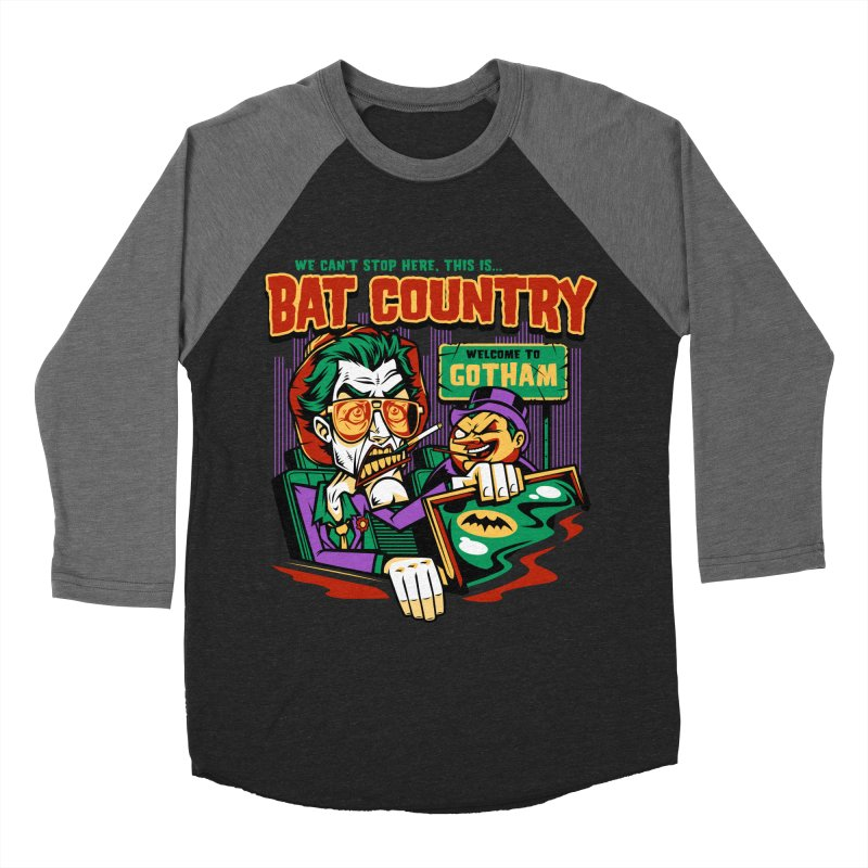 Bat Country (Penguin) Women's Baseball Triblend T-Shirt by harebrained's Artist Shop