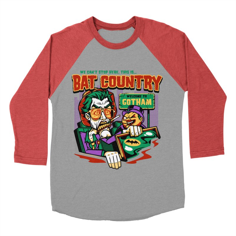Bat Country (Penguin) Men's Baseball Triblend T-Shirt by harebrained's Artist Shop
