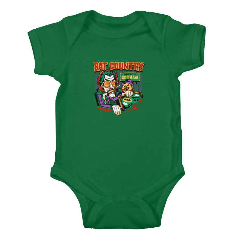 Bat Country (Penguin) Kids Baby Bodysuit by harebrained's Artist Shop