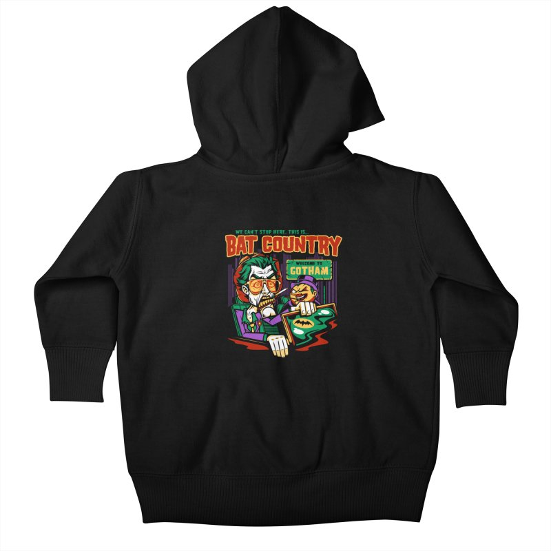 Bat Country (Penguin) Kids Baby Zip-Up Hoody by harebrained's Artist Shop
