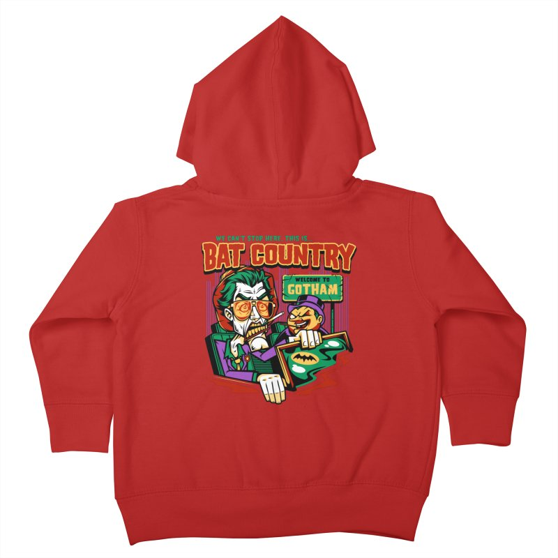 Bat Country (Penguin) Kids Toddler Zip-Up Hoody by harebrained's Artist Shop