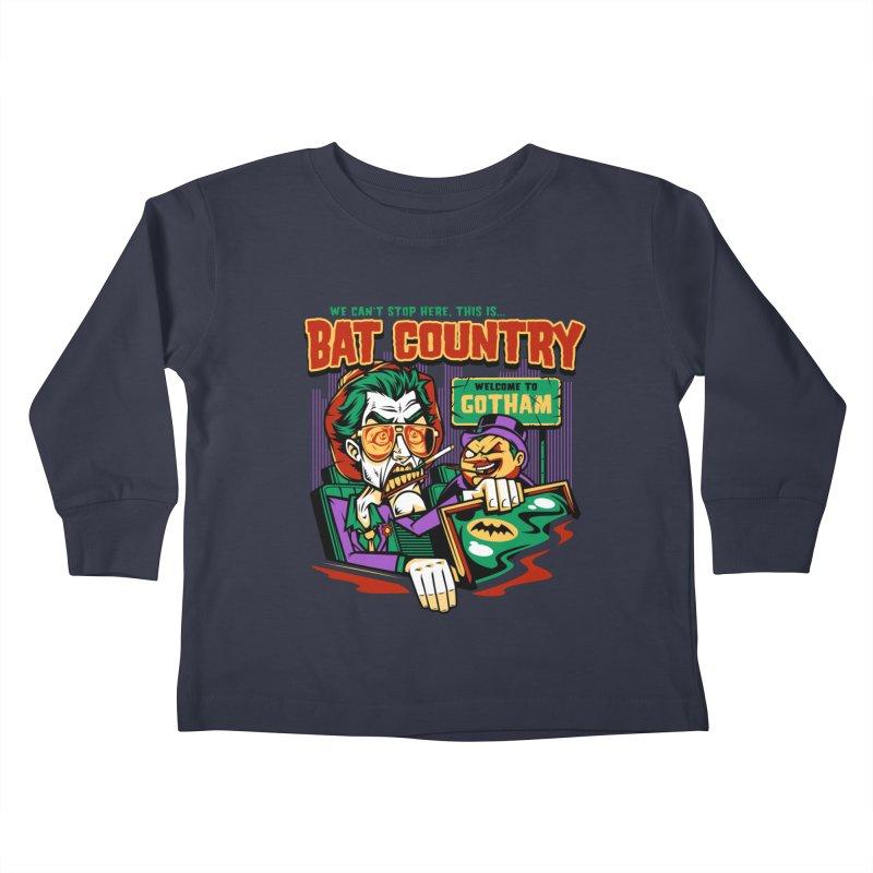 Bat Country (Penguin) Kids Toddler Longsleeve T-Shirt by harebrained's Artist Shop