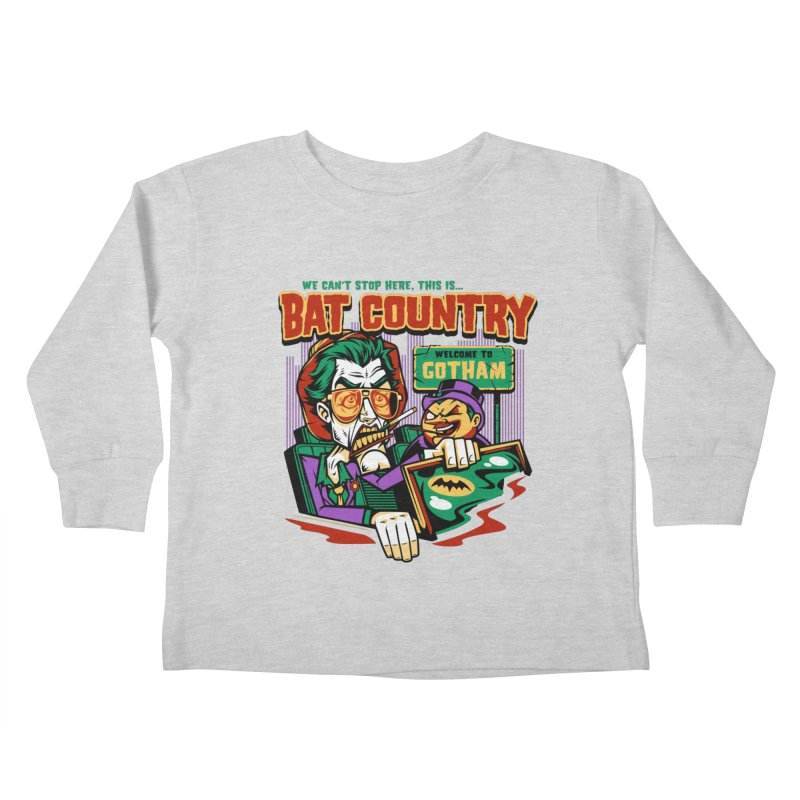 Bat Country (Penguin) Kids Toddler Longsleeve T-Shirt by harebrained's Artist Shop