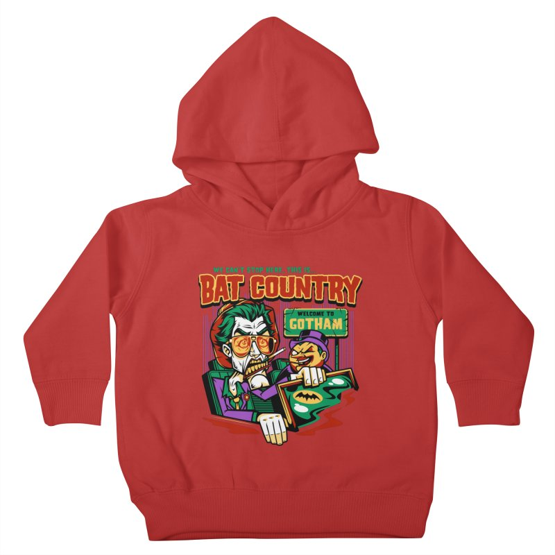 Bat Country (Penguin) Kids Toddler Pullover Hoody by harebrained's Artist Shop