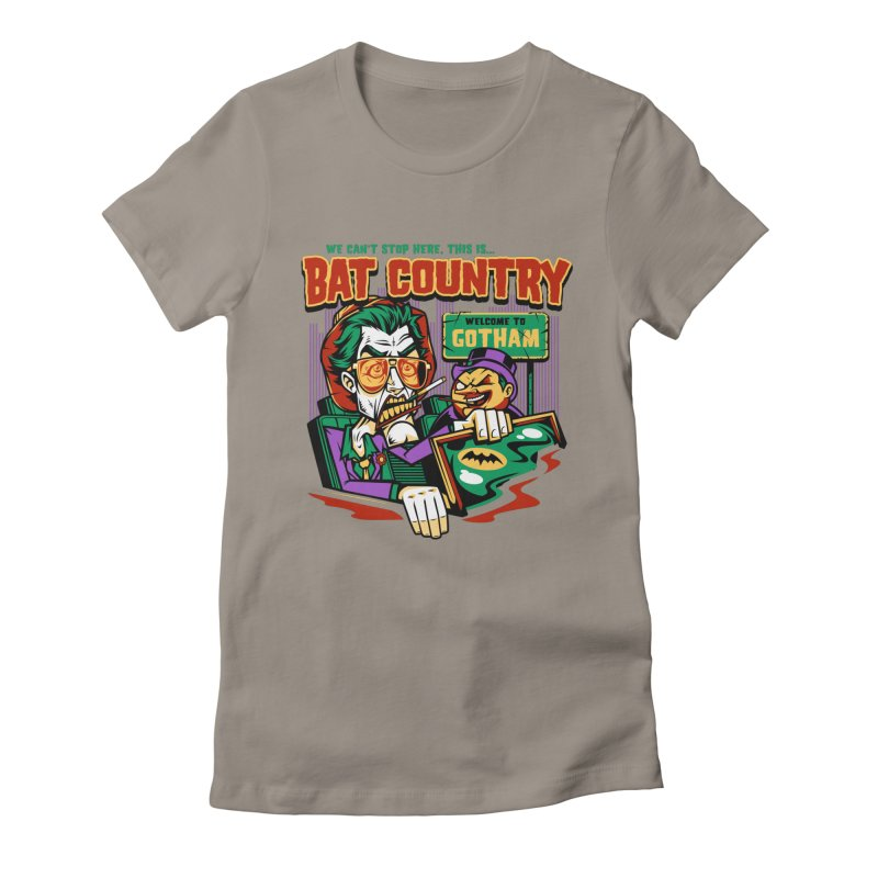 Bat Country (Penguin) Women's Fitted T-Shirt by harebrained's Artist Shop