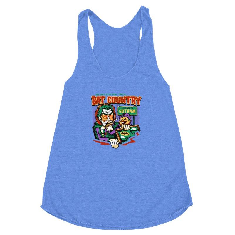 Bat Country (Penguin) Women's Racerback Triblend Tank by harebrained's Artist Shop