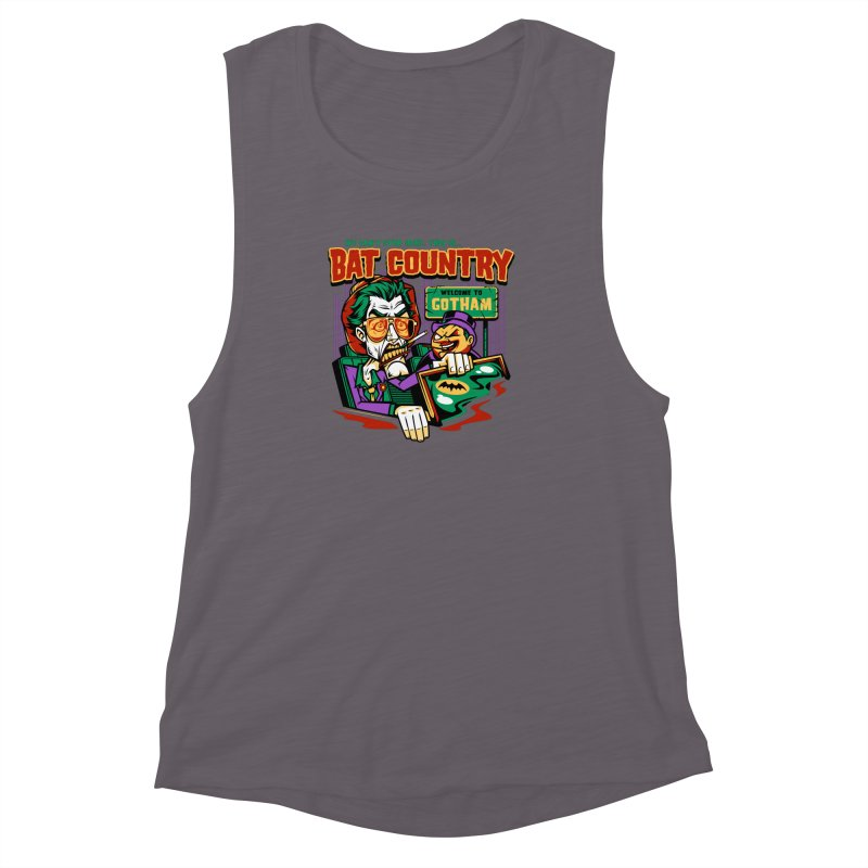 Bat Country (Penguin) Women's Muscle Tank by harebrained's Artist Shop