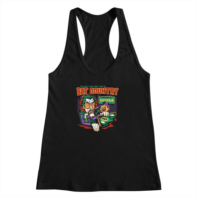 Bat Country (Penguin) Women's Racerback Tank by harebrained's Artist Shop