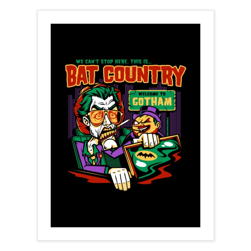 Bat Country (Penguin) Home Fine Art Print by harebrained's Artist Shop