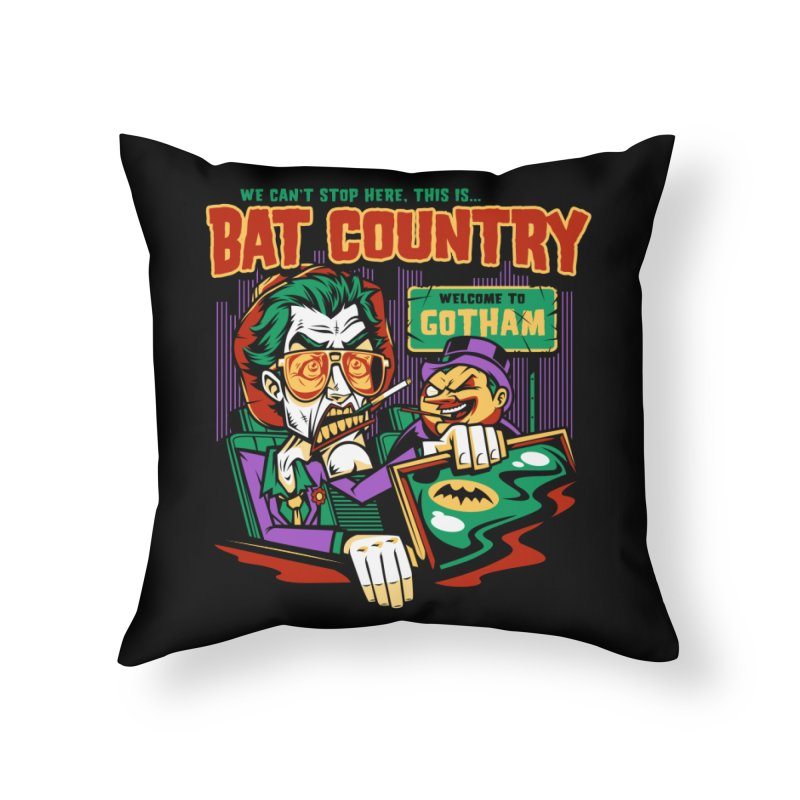 Bat Country (Penguin) Home Throw Pillow by harebrained's Artist Shop