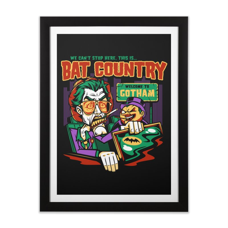 Bat Country (Penguin) Home Framed Fine Art Print by harebrained's Artist Shop