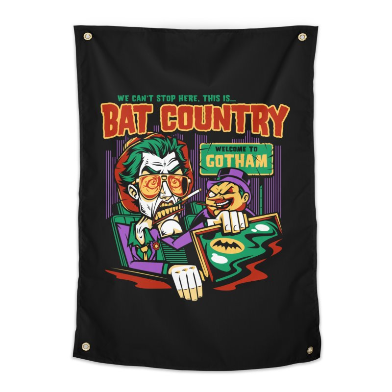 Bat Country (Penguin) Home Tapestry by harebrained's Artist Shop