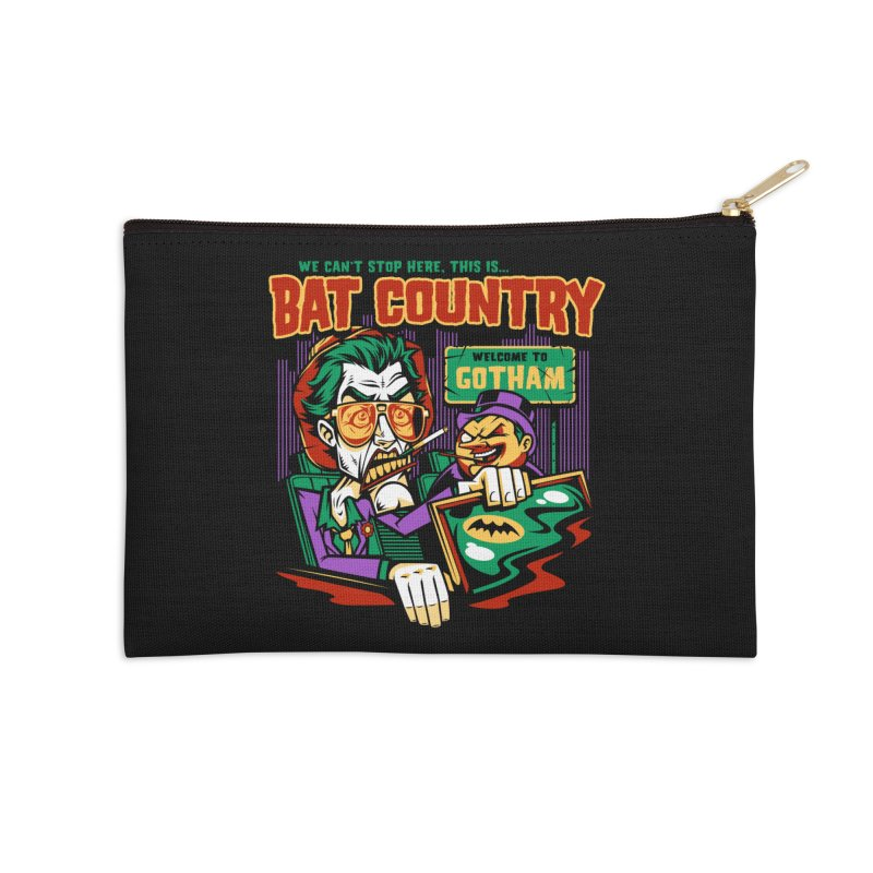 Bat Country (Penguin) Accessories Zip Pouch by harebrained's Artist Shop