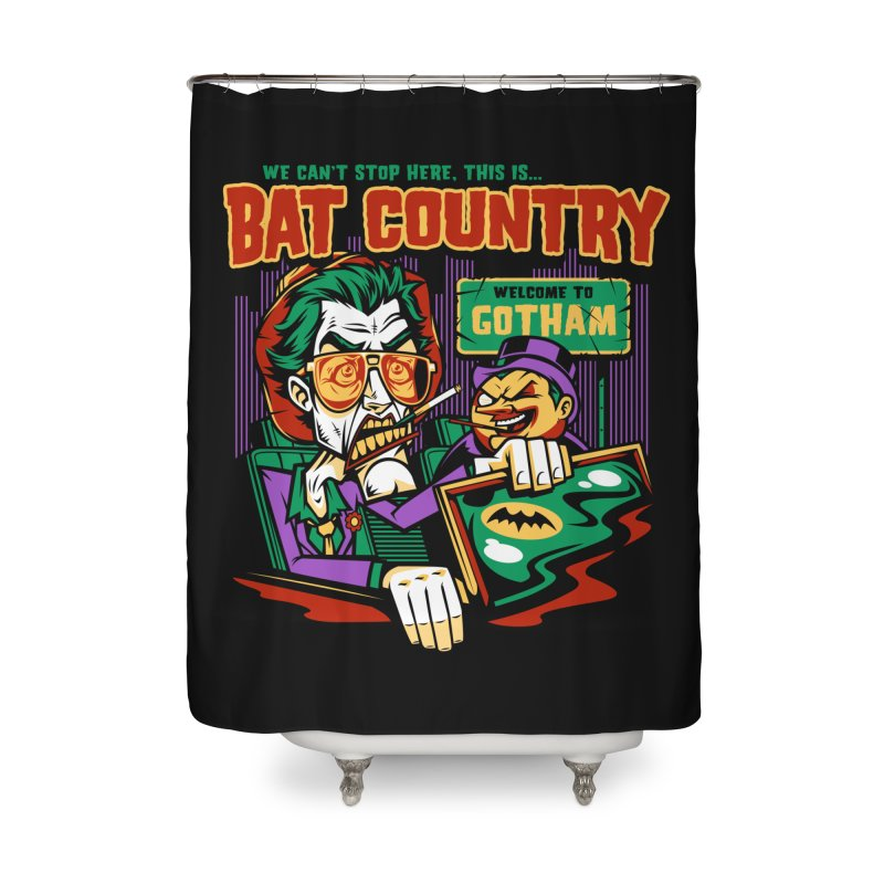 Bat Country (Penguin) Home Shower Curtain by harebrained's Artist Shop