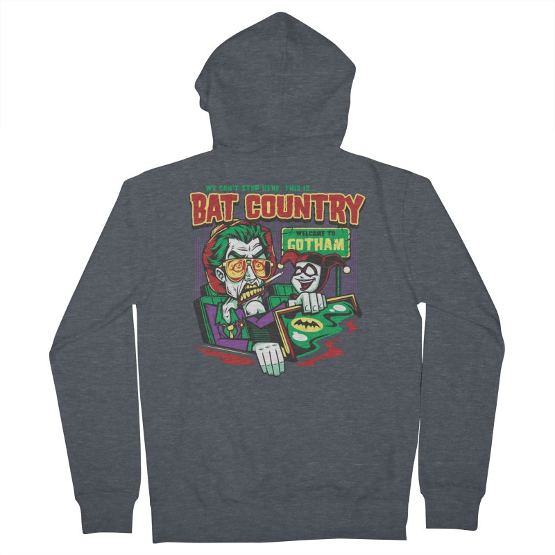 Bat Country (Harley) Women's French Terry Zip-Up Hoody by harebrained's Artist Shop