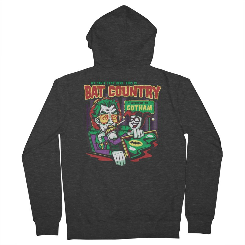 Bat Country (Harley) Men's French Terry Zip-Up Hoody by harebrained's Artist Shop