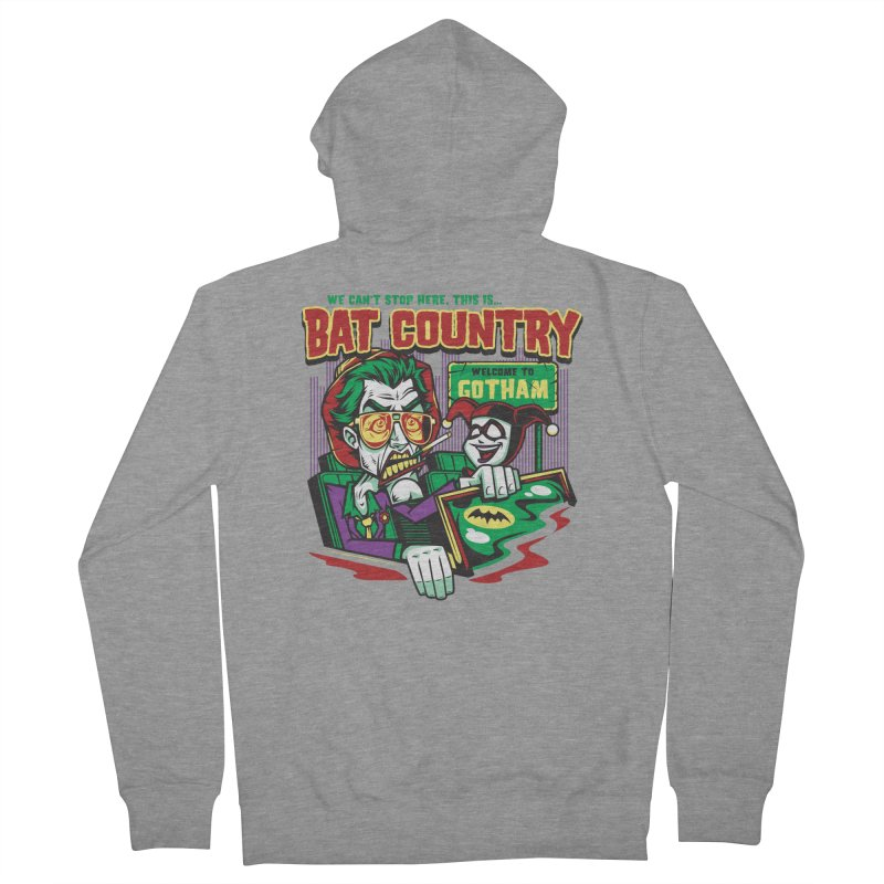 Bat Country (Harley) Men's Zip-Up Hoody by harebrained's Artist Shop