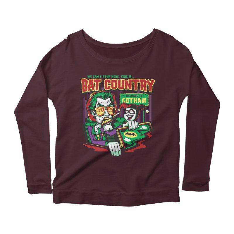 Bat Country (Harley) Women's Longsleeve Scoopneck  by harebrained's Artist Shop