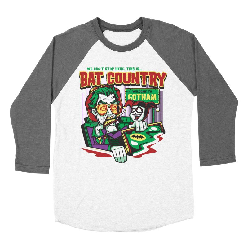 Bat Country (Harley) Men's Baseball Triblend T-Shirt by harebrained's Artist Shop