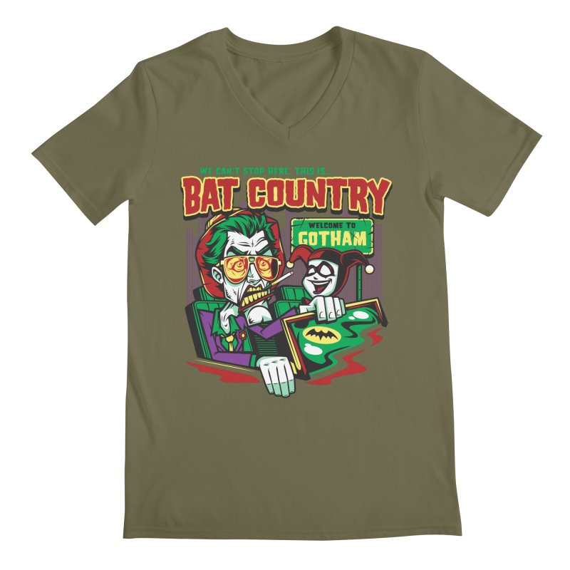 Bat Country (Harley) Men's Regular V-Neck by harebrained's Artist Shop