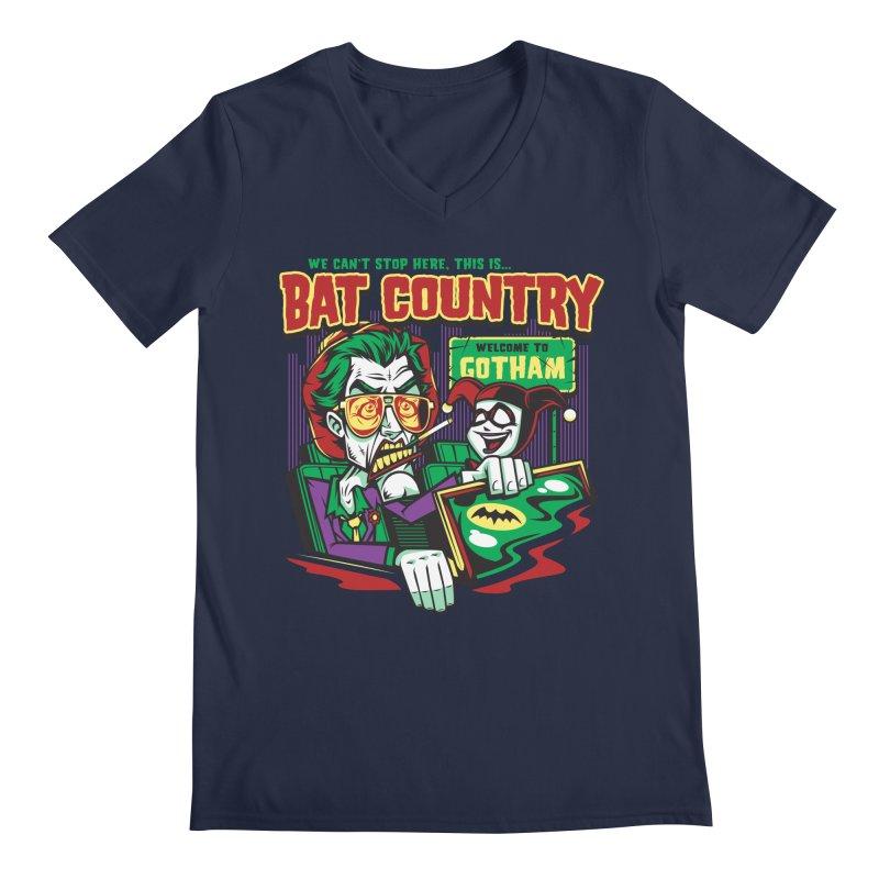 Bat Country (Harley) Men's V-Neck by harebrained's Artist Shop