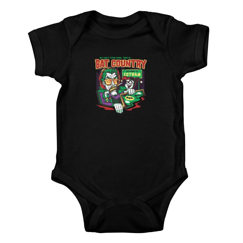 Bat Country (Harley) Kids Baby Bodysuit by harebrained's Artist Shop