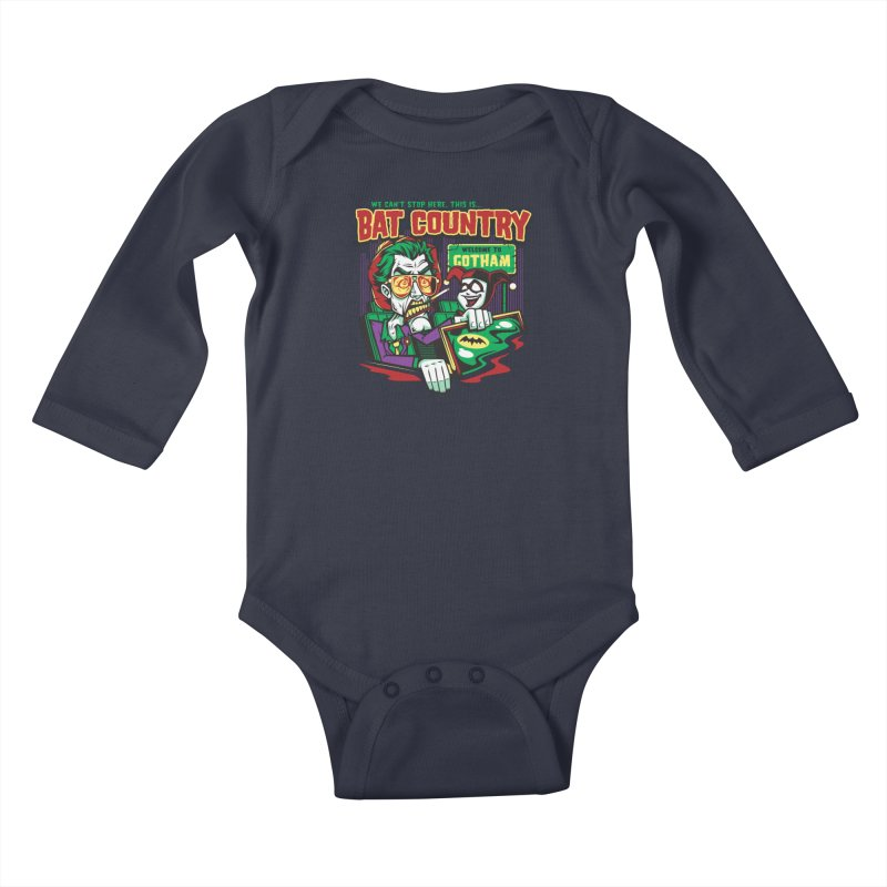 Bat Country (Harley) Kids Baby Longsleeve Bodysuit by harebrained's Artist Shop