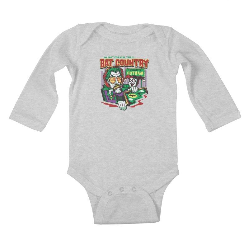 Bat Country (Harley) Kids Baby Longsleeve Bodysuit by harebrained's Artist Shop