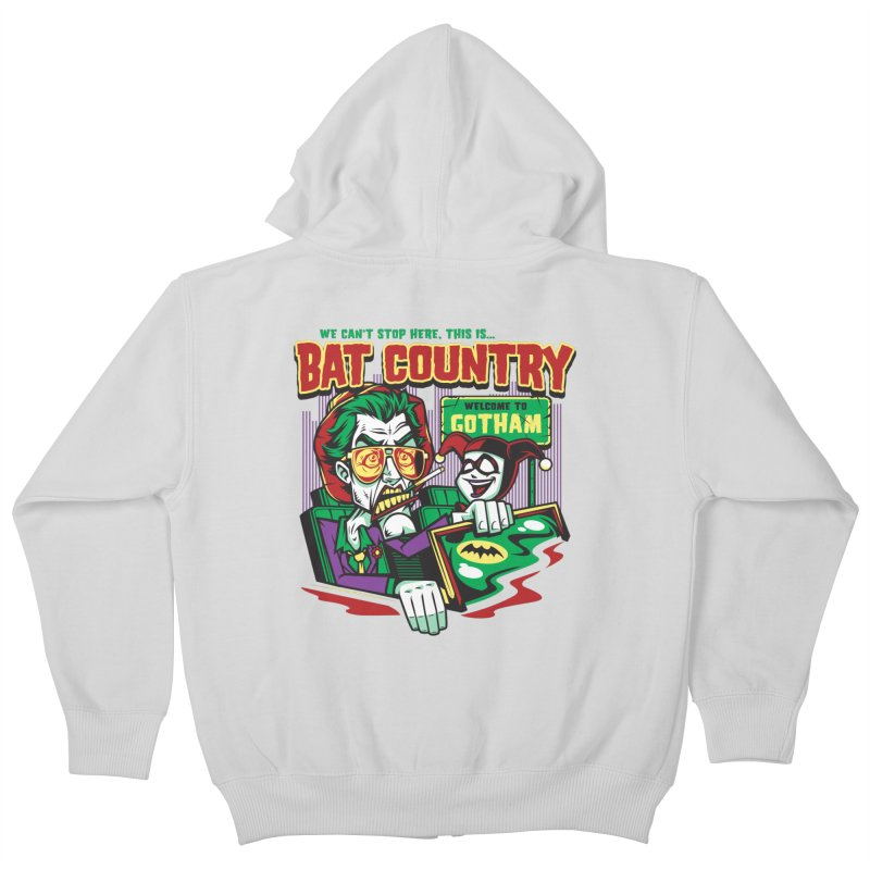 Bat Country (Harley) Kids Zip-Up Hoody by harebrained's Artist Shop